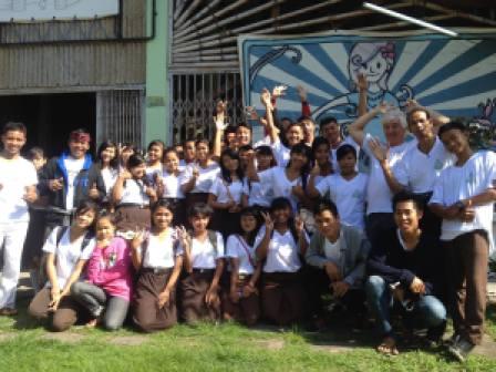 Eco Club Members from SMA1 Dawan (High School) at Temesi Recycling