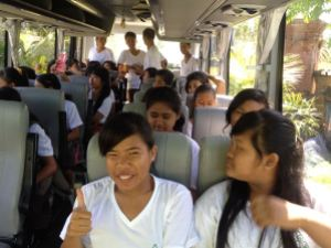 Eco Clubbers on the Bus