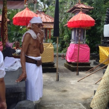 Our Pandita is Indra's 82 year-old uncle, a former boxer.