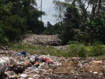 Illegal dump in Gianyar Regency