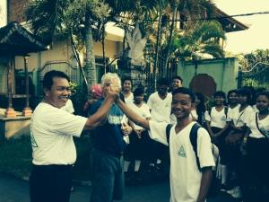 Our Principal, Kawenuh and Pak Dave