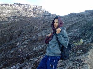 Sheik Komang on the mountain