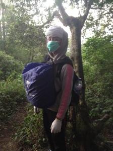 Wayan Wyasa, wearing Nomad Bandit trekking gear
