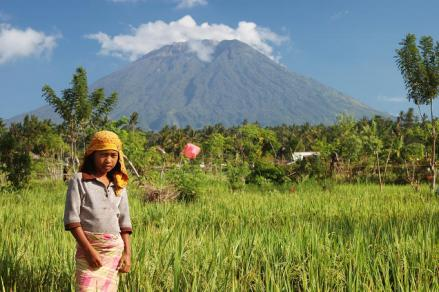 Gunung Agung, Bali's highest volcano at 9,000 feet