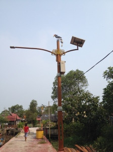 Solar-Powered Street Lamps