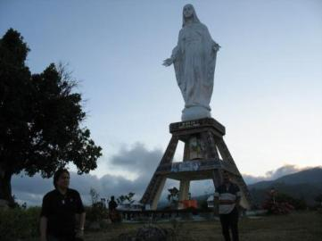 Mother Mary Statue Overlooking Maumere