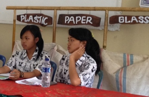 Two of our three Co-Presidents of Eco Club SMA1