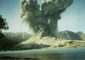 Gunung Barujari blasting its way into creation around 2004