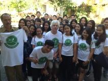 Wearing our new Eco Club SMAN1 Banjarankan t-shirts