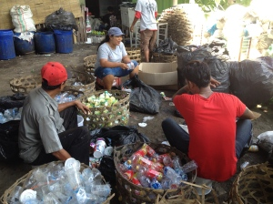 Sorting plastic at Bali Recycling